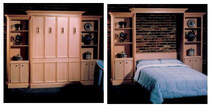 Кровать шкаф в двух положениях