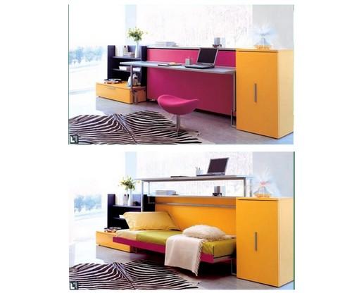 Еще пример мебели: стол кровать трансформер. Два положения