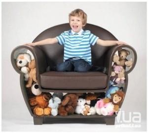Креативное кресло с функцией хранителя игрушек
