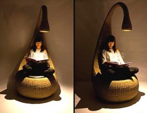 Умное кресло. Сел и включившийся свет приглашает почитать книгу