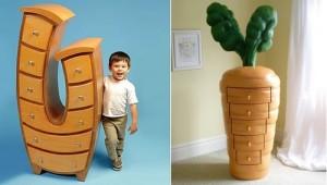 Забавная и веселая мебель ребятишкам