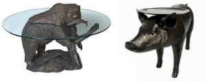 Столы со скульптурой