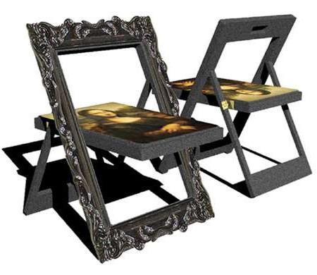 Выставочный дизайн раскладных стульев