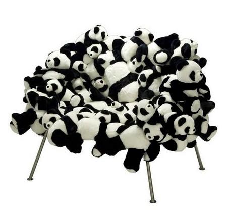 Панда-стул или дизайн из игрушек